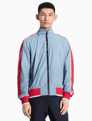 Calvin Klein piped nylon woven jacket