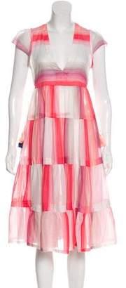 Lemlem Plaid Midi Dress