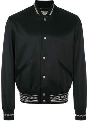 Saint Laurent stitch detail bomber jacket