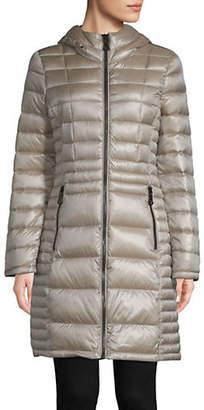 Calvin Klein Petite Packable Hooded Down Jacket