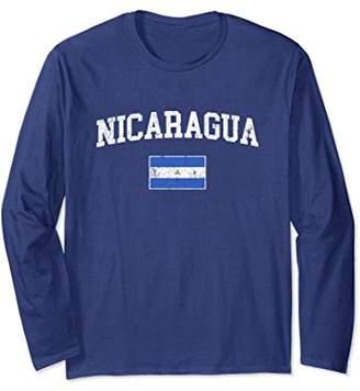 Vintage Nicaragua Flag Long Sleeve Shirt College Tee