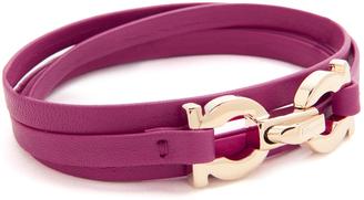 Salvatore Ferragamo Bracciali Pelle Bracelet $190 thestylecure.com