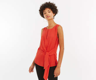 Oasis Keyhole Tie Shell Top