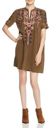 Johnny Was Aaliah Embroidered Silk Dress