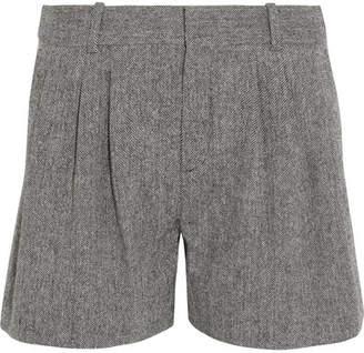Chloé Wool-blend Tweed Shorts - Gray