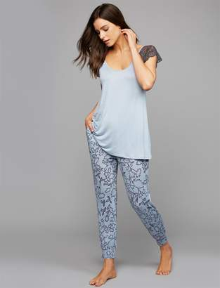 A Pea in the Pod Floral Maternity Sleep Jogger