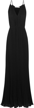 Elizabeth and James - Pleated Chiffon Gown - Black $695 thestylecure.com