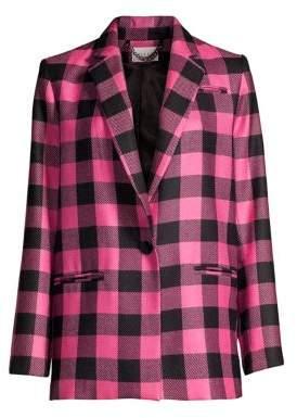 Milly Buffalo Check Wool Jacket