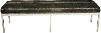 One Kings Lane Vintage 1960s Chrome & Cowhide Bench - 2-b-Modern