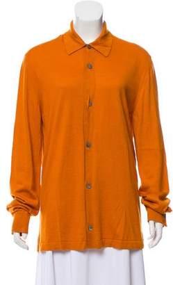 Gucci Silk-Cashmere Pointed Collar Cardigan