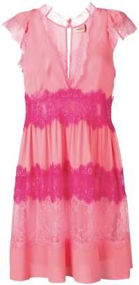 Twin-Set floral lace inserts dress