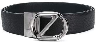 Z Zegna silver logo buckle belt