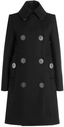 Simone Rocha Wool Blend Coat with Flower Buttons