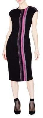 Rachel Roy Tweed Stripe Midi Dress