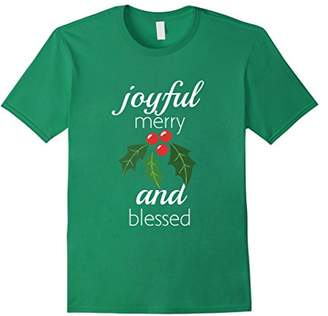 Joyful Merry And Blessed Christmas T Shirt