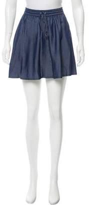 J Brand Chambray Mini Skirt