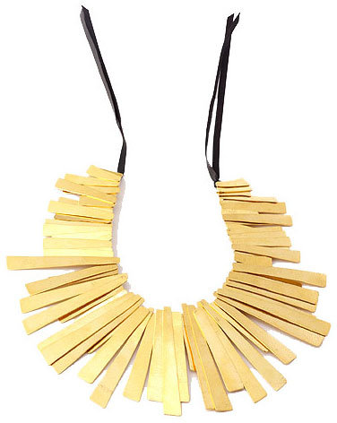 Rectangular Drops Necklace by Herve van der Straeten