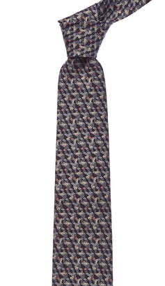 Salvatore Ferragamo Grey Rabbit Silk Tie
