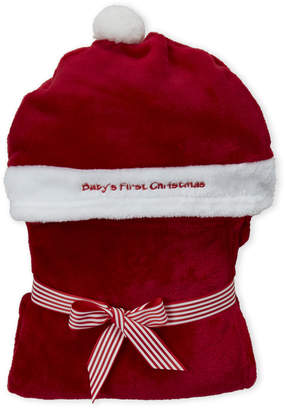 Baby Essentials My Baby Boutique (Infant) My First Christmas Hooded Santa Blanket