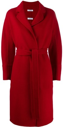 P.A.R.O.S.H. belted midi coat