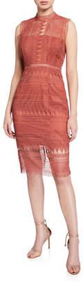 Bardot Mariana Sleeveless Lace Body-Con Dress