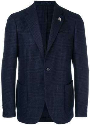 Lardini plaid tailored blazer