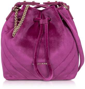 Velvet Couture Lancaster Paris Quilted Small Bucket Bag