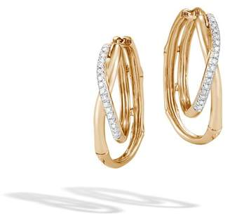 John Hardy Hoop Earring With Diamonds