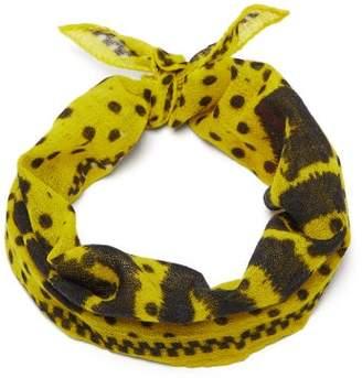 Colville - No Fun Polka Dot Wool Scarf - Womens - Yellow