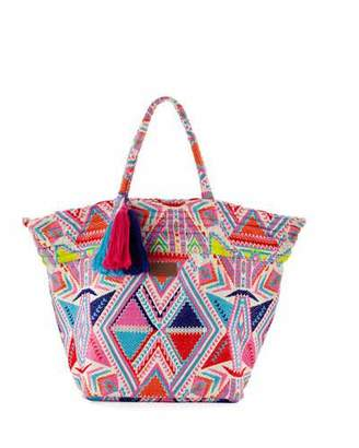 Seafolly Carried Away Embroidered Beach Tote Bag, Multicolor $122 thestylecure.com