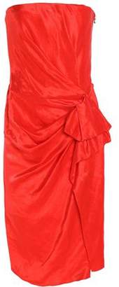 Lanvin Strapless Gathered Linen-Blend Taffeta Dress