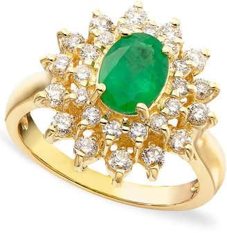 Effy Royalty Inspired by Emerald (1-1/8 ct. t.w.) and Diamond (3/4 ct. t.w.) Ring in 14k Gold, Created for Macy's