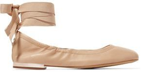Sam Edelman Lace-Up Leather Ballet Flats