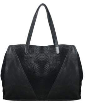 Sondra Roberts Squared Leather & Calf Hair Tote