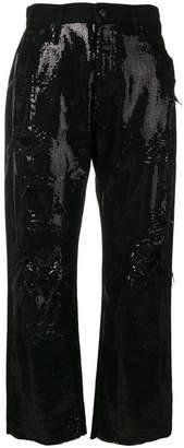 R 13 sequin embellished jeans