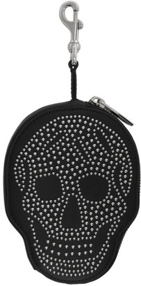 Alexander McQueen Black Leather Skull Coin Pouch