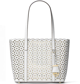 MICHAEL Michael Kors Desi Small Laser-Cut Travel Tote Bag $278 thestylecure.com