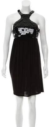 Christian Dior Greene Sequin Knit Dress Black Greene Sequin Knit Dress