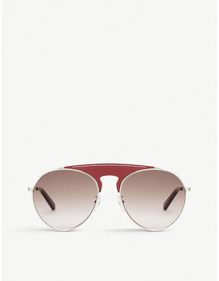 Loewe Leather-panel aviator sunglasses
