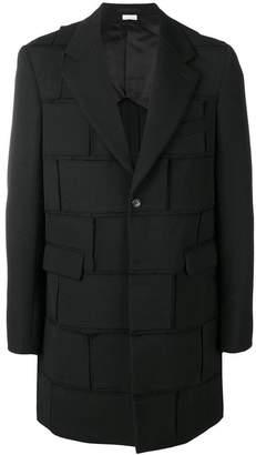 Comme des Garcons distressed patchwork coat