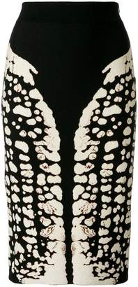Alexander McQueen Symmetry pencil skirt