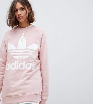 adidas Trefoil Logo Sweatshirt In Pink