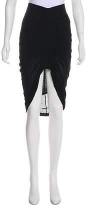 Helmut Lang Jersey Knee-Length Skirt w/ Tags