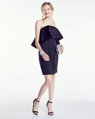 Zac Posen Janey Strapless Flounce-Bodice Dress