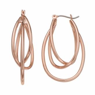Apt. 9 Nickel Free Triple Oval Hoop Earrings