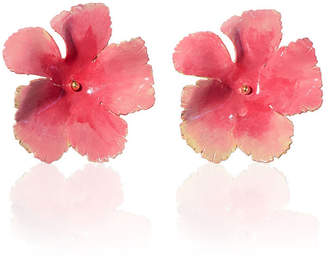 Jennifer Behr Wild Rose Hand-Painted Stud Earrings
