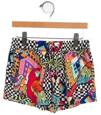 Mara Hoffman Girls' Abstract Mini Shorts