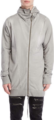 Army Of Me Asymmetrical Zip Longline Sweatshirt