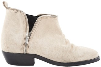 Golden Goose Beige Suede Ankle boots