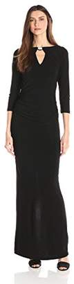 Marina Women's Dress with Sleeves Center Front and Back Keyhole $30.54 thestylecure.com